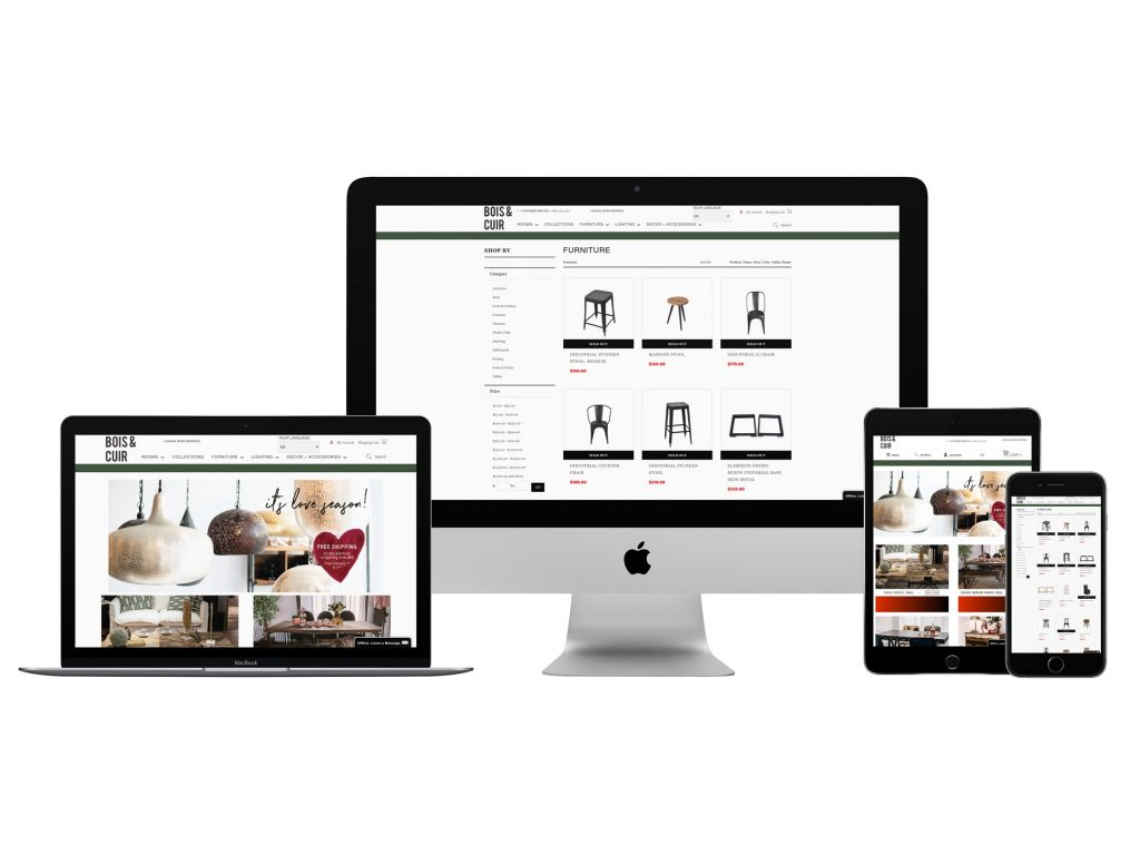 Consulting and web development for Bois et Cuir